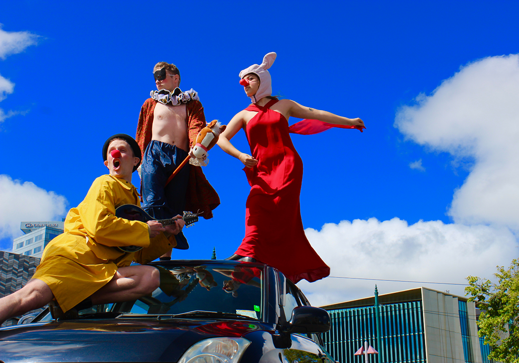 The Amateur Amateur Dramatic Society: At traffic lights and on table tops - where will these troublemakers strike next? gallery image